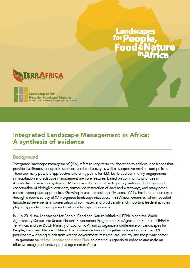 IntegratedLandscapeMgmtinAfricaSynthesisofEvidence_Cover