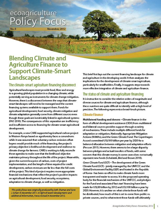 BlendingClimateandAgricultureFinance