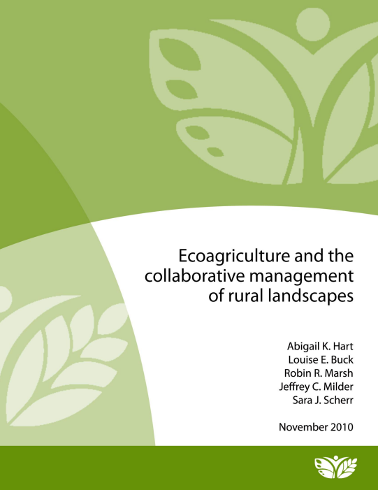Ecoagriculture for collaborative management cover
