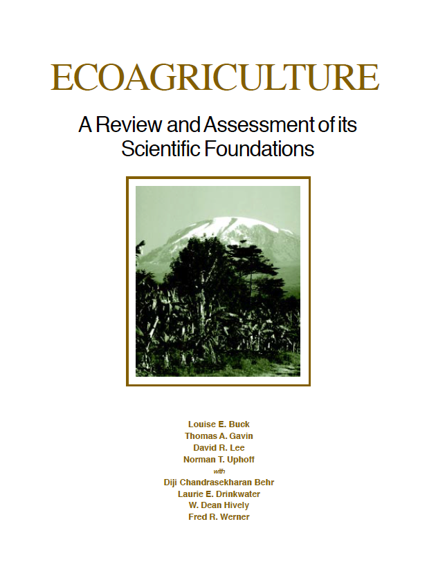 Cover of Ecoagriculture A review and assessment