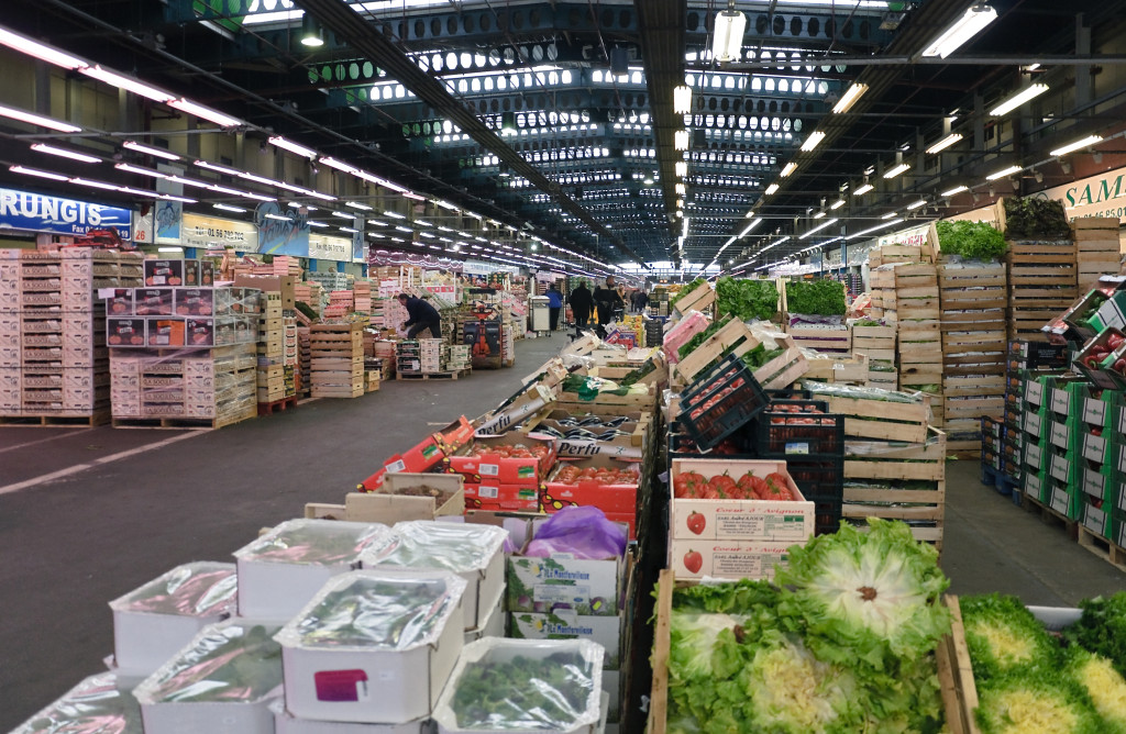 The Rungis International Market in France offers wholesale bulk foods.